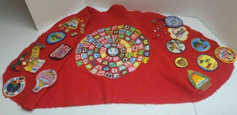 BSA Boy Cub Scout Brag Vest 100 + Patches 43 Pins Lot Vtg Montana