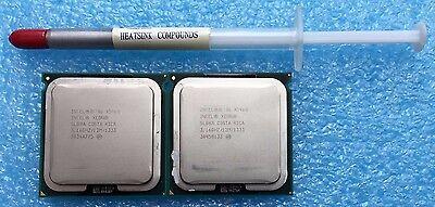 2x Intel Xeon X5460 3.16 GHz,12M,1333MHZ,LGA771, QC, SLBBA/SLANP