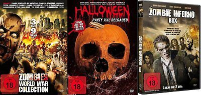 20 Horrorfilme HALLOWEEN & ZOMBIE Klassiker Collection NIGHT LIVING DEAD.. DVD