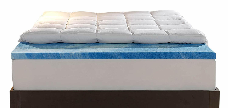 King Sleep Innovations 4-inch Dual Layer Mattress Topper Gel