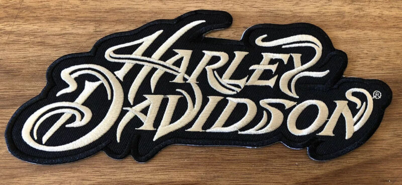 Harley Davidson Black And White Iron On  Patch New