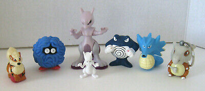 Vintage Pokemon Toys1999 Keychain Figures Assorted Lot of 7 Pieces! Set #9
