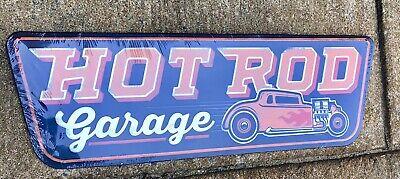 Hot Rod Garage Man Cave Garage Vintage Look Large Metal Sign 25x8 Vintage Hot Rod