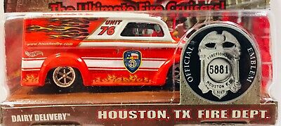 HOT WHEELS FIRE DEPARTMENT RODS * DAIRY DELIVERY * HOUSTON FD