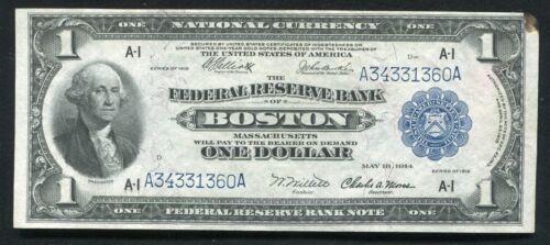 FR. 710 1918 $1 ONE DOLLAR FRBN FEDERAL RESERVE BANK NOTE BOSTON, MA UNC