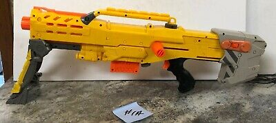 YELLOW NERF LONGSHOT CS-6 DART GUN N-STRIKE RIFLE CS6 GUN Retired . WORKS!!!