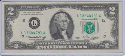 $2 SERIES 1976 SAN FRANCISCO L/A BLOCK UNCIRCULATED P-1