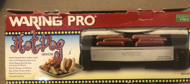 Waring Pro Professional Quality Hot Dog Griller ** Open Box Never Used!!