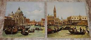Pair Wall Tile Trivet Of Venice Canaletto Canal Grand Sucintoro South Windsor Hawkesbury Area Preview