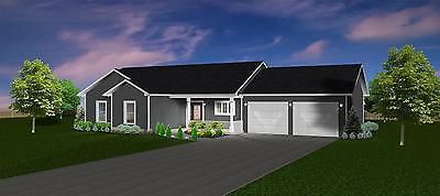 1460 Sq.Ft. Ranch house plans 3 Bed 2 Bath up, 1 Bed 1 Bath down 1170 sq.ft. bsm