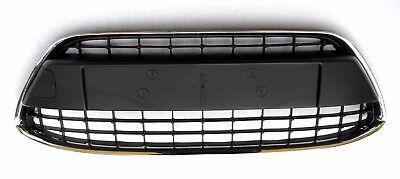 NEW FORD FIESTA MK7 2008-2012 FRONT BUMPER CENTER LOWER GRILLE BLACK CHROME TRIM