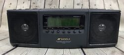 Sansui Programmable CD Player Dual Alarm Digital Clock Radio CK-D500