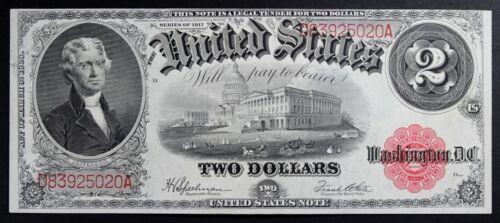 1917 $2 Legal Tender Pristine UNC