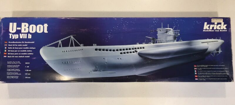 Krick U Boat Type VII submarine Radio controlled RC model kit Grundbaukasten