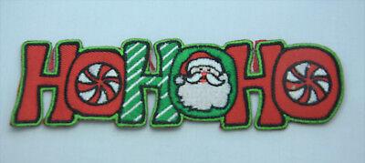 O SANTA Embroidered Iron Sew On Cloth Patch Badge  APPLIQUE  (Santa Hohoho)