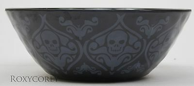 Halloween 10 in Black Skull Candy Dish NWT