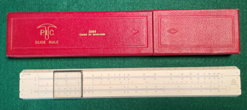 Vintage Engine Divided PIC SLIDE Rule No F.3654 / PC8 Made in England
