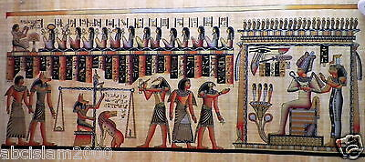 Egyptian Papyrus  HandMade Painting,size 70x170cm (28