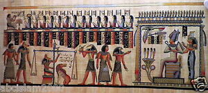 244-Egyptian-Papyrus-HandMade-Painting-size-100x200cm-40-x80-Judgement-Day