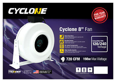 "New CYCLONE 4"",6"",8"",10"",12"" inch Inline Duct Fan Blower CFM HYDROPONICS on Rummage"