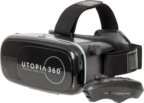 VR Headset with Wireless Bluetooth Controller - iPhone & Android