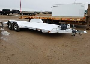 2013 Aluma Ltd. 8220H Flatdeck Car Hauler Trailer
