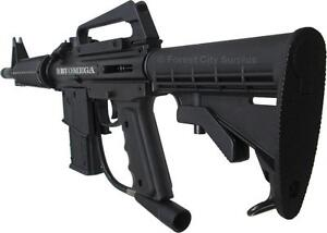 New - M16 STYLE OMEGA EMPIRE BATTLE TESTED PAINTBALL MARKER - VERY REALISTIC - IDEAL FOR MILITARY TRAINING !