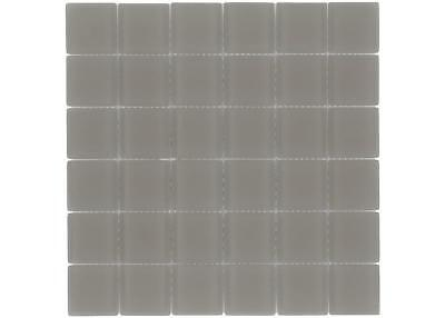 Classic Squares Brown Frosted Glass Mosaic Tile Backsplash MTO0395