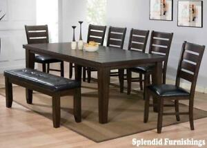 BRAND NEW!! ESPRESSO FINISH, HARDWOOD SOLIDS CONSTRUCTION 5 Pc