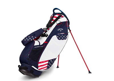 Callaway Hyper Lite 3 Stand Golf Bag USA  Navy/Red/White