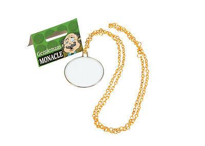 GENTLEMAN'S VICTORIAN/ EDWARDIAN GLASS MONOCLE GOLD COLOUR FANCY DRESS - Monocle Kostüm