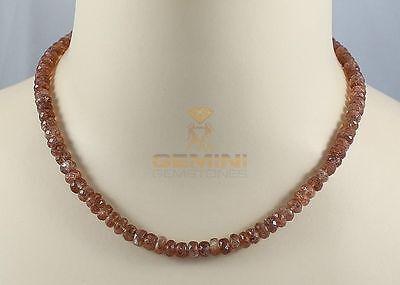 Sonnenstein Kette facettiert - Halskette für Damen von Gemini Gemstones