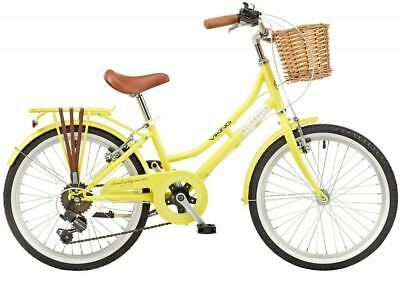 "Viking Belgravia Girls Junior Traditional Heritage Bike 20"" Wheel 6Speed - Lemon"