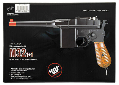 Double Eagle Compact Spring Airsoft Pistol Hand Gun Small Black