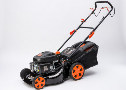 "Self Propelled 21"" Petrol Lawn Mower Cut Collect Mulch 4 Stroke 200cc OHV Engine"