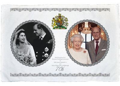 Queen Elizabeth II Platinum Wedding Anniversary MicroFibre Tea Towel