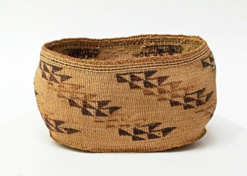 "Klamath Indian Basketry Bowl ca. 1880-1900    8"" x 5 1/2"" x 5"""