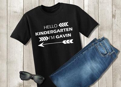 Hello Kindergarten Shirt - First Day of School Boys Tshirt - Personalized Custom - 1st Day Of Kindergarten