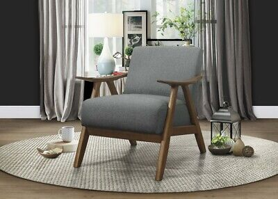 Homelegance Lexicon Fabric Upholstered Accent Chair, Gray