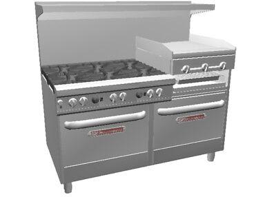 Southbend 4601dd-2rr Ultimate 60 6 Burner Range W Griddle Broiler 2 Ovens