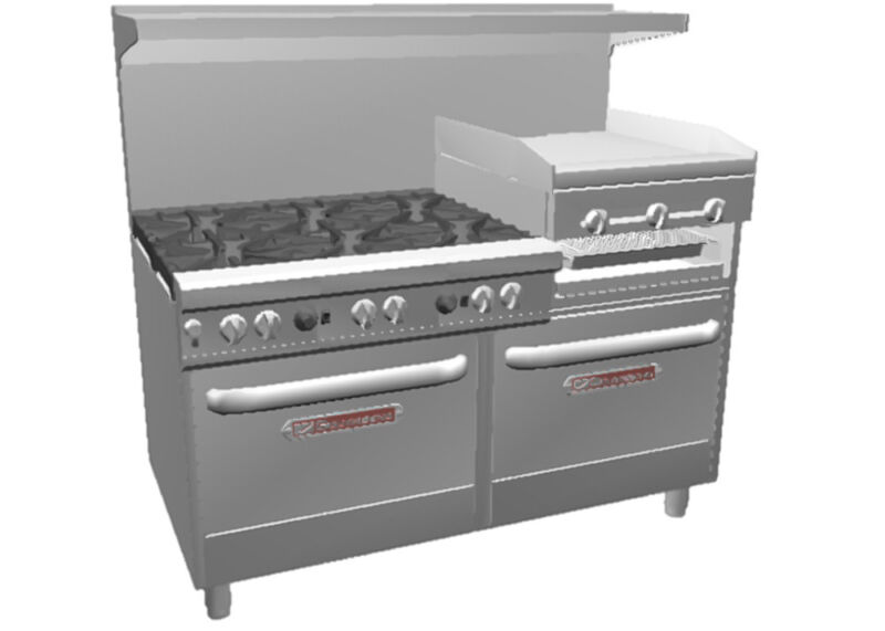 """Southbend 4601dd-2rr Ultimate 60"""" 6 Burner Range W/ Griddle / Broiler & 2 Ovens"""