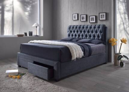 Brand New Luxury King Bed Frame With 2 or 4 Large Storage Drawers