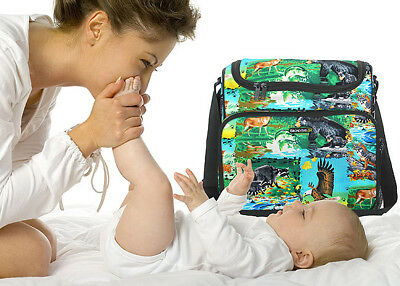 American Wildlife DIAPER BAG Baby Shower Gift Idea A TOP Diaper Bag For DAD MEN - Idea For Baby Shower