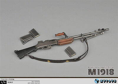 """ZY Toys 1/6 Weapon Model WWII Soldier BAR M1918 Machine Gun F 12"""" Action Figure, used for sale  China"""
