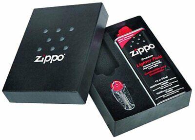 Zippo Gift Kit Box For Slim Lighter: 4 oz Fuel + 6-Flint Dispenser #50S (50s Gifts)