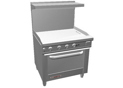 Southbend S36d-3g 36 Gas Restaurant Range With Standard Oven 36 Griddle
