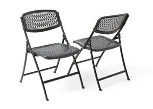NEW Flex One Folding Chair, Black, 4-Pack Condition: New