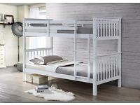 CLEARANCE SALE NEVERENDINGSTORY TWIN BUNKBED Solid White Hardwood Twin Bunk Bed Frame Bedroom