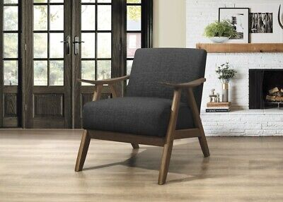 Homelegance Lexicon FabricUpholstered Accent Chair, Dark Gray