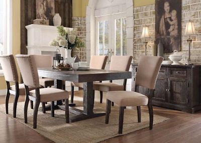 Acme Furniture Eliana 7 Piece Dining Table Set (Acme Furniture Set Table)